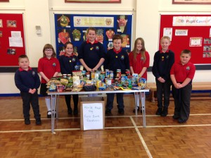 The food bank appeal organised by Pupil Council