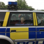 A ride in the police car - lets hope it is his last!