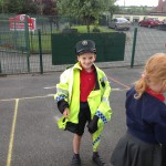 A police officer in the making!