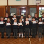 100% attendance award winners for term 1