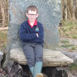 Relaxing on the bronze age crowning seat!