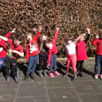 Red nose day poses