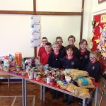 Pupil Council with the foodbank donations