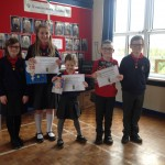 Pupil council prize winners for Rd Safety Week