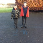 learning fractions outdoors