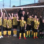 Our new kits with Sponsor Mr Bell from Teague & Sally