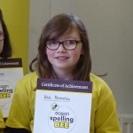 Our spelling star who represented SPS in Spelling Bee