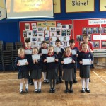 100% attendance award for terms 1 & 2