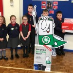 Pupil council handing over batteries saved from landfill