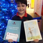 A proud prize winner in Fairhill Shopping Centre story illustration comp